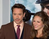 WESTWOOD, CA - DECEMBER 6: Actor Robert Downey Jr. and producer Susan Downey arrive at the premiere