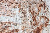Texture Of Rusty Iron, Cracked Paint On An Old Metallic Surface, Sheet Of Rusty Metal With Cracked A poster