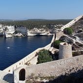 Bonifacio Bay Seen From The Genovese Fortifications