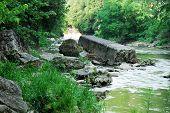 Creeks Rocky Shore Line