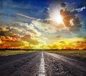 Landstraße in der steppe