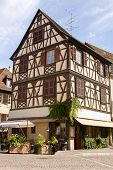 Beautiful Half-timbered House In Colmar City, France