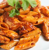 Comida de Pasta Italiana Rigatoni