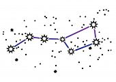 Simple drawing of constellation