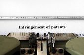 picture of disobedient  - Close up of typewriter and Infringement of patents - JPG