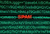 image of no spamming  - Close up of monitor screen and Spam concept - JPG
