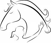 Horse and girl logo