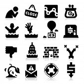 Business Failure Icons