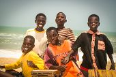 Smiling Children In Senegal, Africa