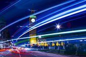 image of london night  - Speed motion at night London - JPG