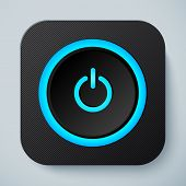 Black rounded square icon with power button