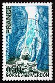 Postage Stamp France 1975 Shows Verdon Gorge