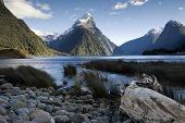 Mitre Peak, Milford Sound, South Island, New Zealand.