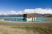 Lake Pukaki, hydro power station, New Zealand