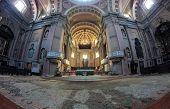 Basilica Of San Gaudenzio Interior In Novara, Italy