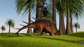 walking kentrosaurus