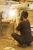 sitting welding