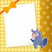 Anteater. Baby Card.