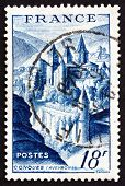 Postage Stamp France 1948 Shows View Of Conques, Aveyron