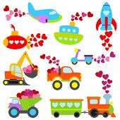 Valentinstag Themen Cartoon Transport Set