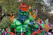 image of parade  - The title float from the Proteus Mardi Gras parade - JPG