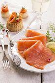 foto of blubber  - smoked salmon - JPG