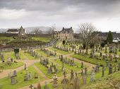 Scottish Cemetery In Stirling (scotland)
