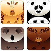 Wild Animals - Icon Set 4 poster