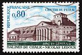 Postage Stamp France 1970 Shows Royal Salt Works, Arc-et-senas