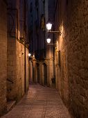 The Medieval Girona By Night, Northern Spain