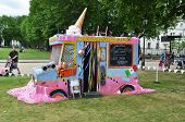 Melted Ice Cream Van At The Greenwich And Docklands International Festival In Londons Greenwich 23Rd