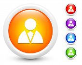 Businessperson Icons on Round Button Collection Original Illustration
