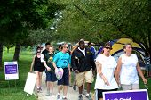 Marchers At The Relay For Life Of Ann Arbor Event 2013