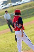 stock photo of little-league  - Llittle league baseball player during a game - JPG