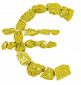 Euro Symbol Goldl Nugget