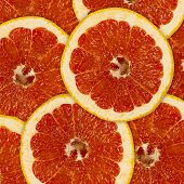 Abstract Background Of Grapefruit Slices