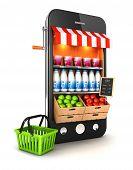 3D smartphone de supermercado