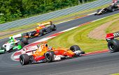 MOSCOW - JUNE 23: Formula renault 3.5 cars race at World Series by Renault in Moscow Raceway on June
