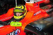 Moskau - Juni 23: Niigel Melker der Tech 1 R (FRA) bereit für den Beginn der World Series by Renault in Mosc