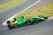 MOSCOW - JUNE 23: Pietro Fantin of Arden Caterham team (GBR) race at Formula Renault 3.5 race at Wor