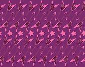 Pink guitar pattern