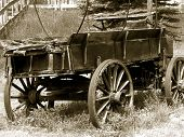 stock photo of mennonite  - rustic mennonite buggie - JPG