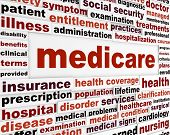 stock photo of medicare  - Medicare word clouds design - JPG