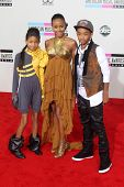 Willow Smith, Jada Pinkett Smith, Jaden Smith at the 2010 American Music Awards Arrivals, Nokia Theater, Los Angeles, CA. 11-21-10