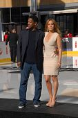 Denzel Washington and Jennifer Lopez at a Boys And Girls Clubs Of America Announcement With Denzel W