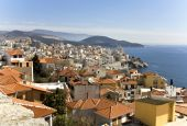 City of Kavala at Greece, famous summer resort