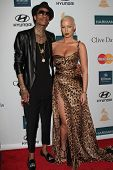 Amber Rose and boyfriend Wiz Khalifa at the Clive Davis And The Recording Academy's 2012 Pre-GRAMMY