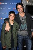 Gilles Marini and son at the