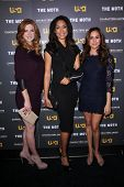 Sarah Rafferty, Gina Torres, Meghan Markle at USA Network and Moth present