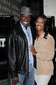 Michael Clarke Duncan and Omarosa Manigault-Stallworth at the